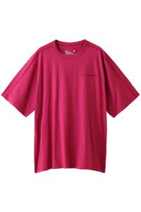 60%OFF!<ELLE SHOP>メンズ(MENS)ロゴ刺繍ビッグTシャツ ピンク画像