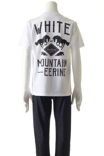【MEN】WプリントTシャツ ホワイトマウンテニアリング/White Mountaineering