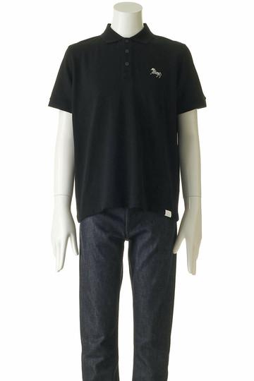 ホワイトマウンテニアリング/White Mountaineeringの【MEN】ホース刺繍ポロシャツ(ブラック/WM1871524)