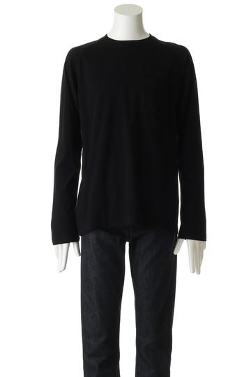 ホワイトマウンテニアリング/White Mountaineeringの【MEN】【wardrobe】クルーネックラグランロングスリーブTシャツ(ブラック/WR1873502)