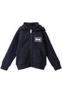 <ELLE SHOP> HELLY HANSEN ヘリーハンセン 【KIDS】ロゴフルジップスウェットフーディー ディープネイビー画像