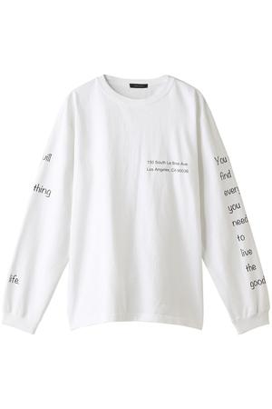 【MEN】プリントL/S Tシャツ アメリカンラグ シー/AMERICAN RAG CIE