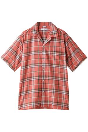 【MEN】チェックオープンカラーシャツ アメリカンラグ シー/AMERICAN RAG CIE