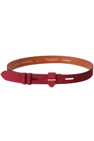 【MAISON BOINET】LEATHER BELT アメリカンラグ シー/AMERICAN RAG CIE
