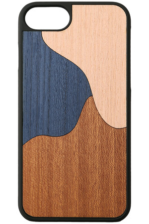 【WOOD'D】INLAY BLUEiphone8ケース