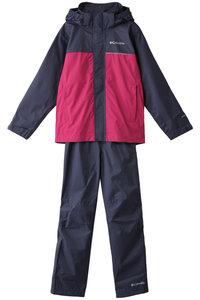 <ELLE SHOP> Columbia コロンビア 【KIDS】シンプソンサンクチュアリ IIレインセット/レインスーツ ネイビー×ピンク画像