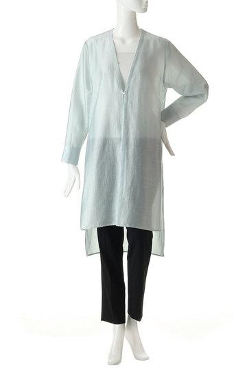 ガリャルダガランテ/GALLARDAGALANTEのノーカラーロングシャツ(ブラック/71242203)
