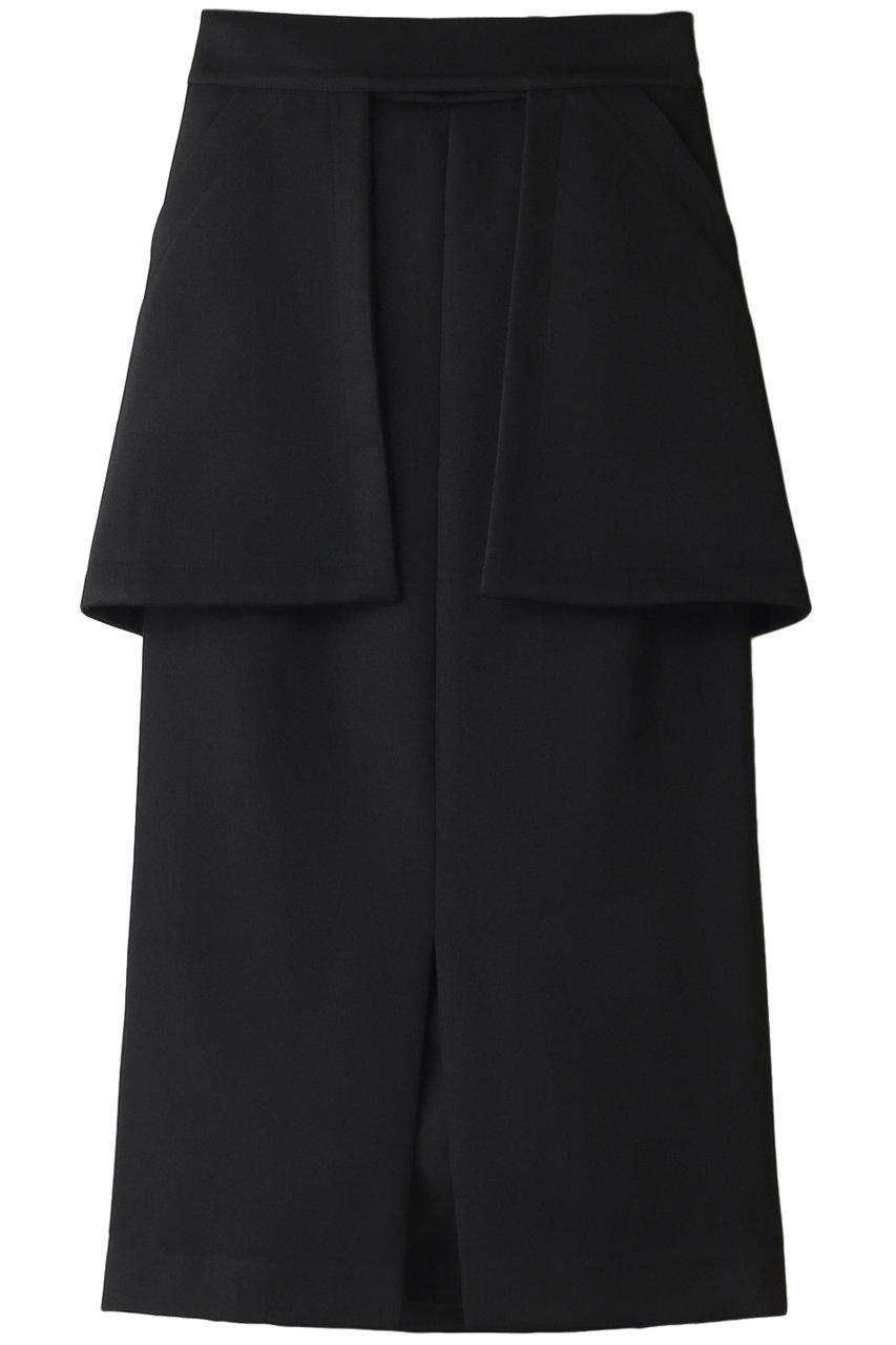 アドーア/ADOREのブライトダブルクロススカート(ブラック/531-0120520)