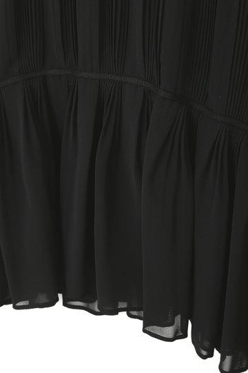 アドーア/ADOREのシフォンプリーツブラウス(ブラック/531-9110005)