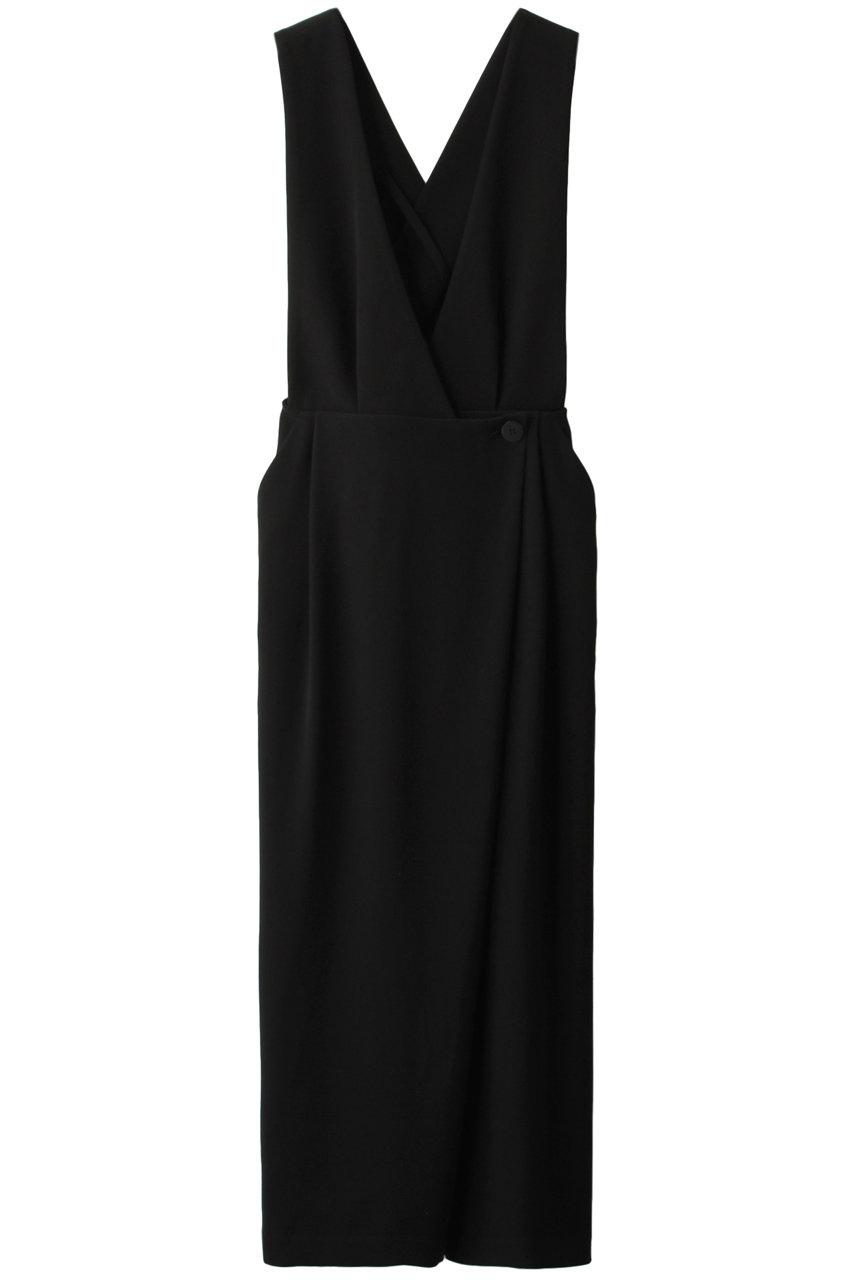 エンフォルド/ENFOLDのダブルサテン ジャンパースカート(ブラック/300DA231-0790)