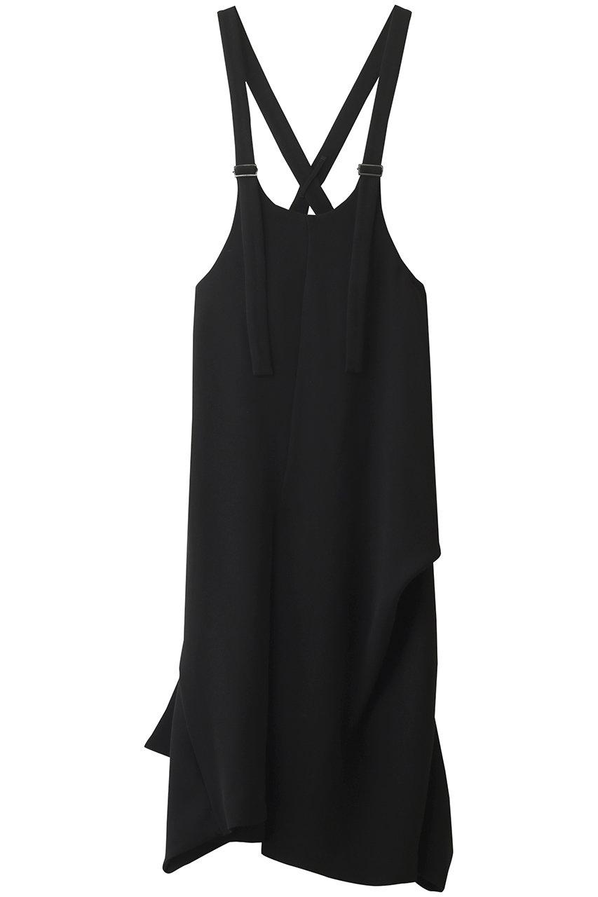 エンフォルド/ENFOLDのダブルサテン サロペットドレス(ブラック/300ES333-1990)