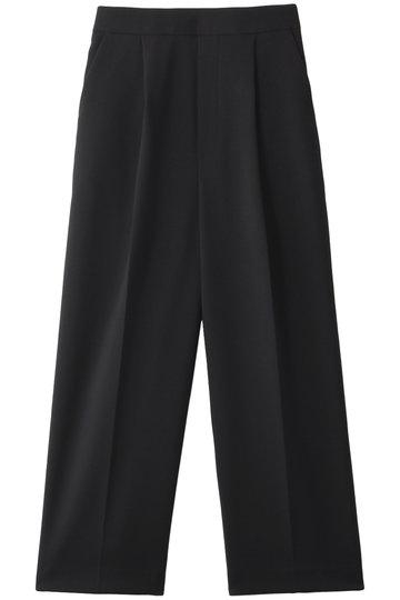エンフォルド/ENFOLDのダブルクロス ゴムクロップドトラウザー/パンツ(ブラック/300CS231-0370)