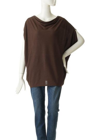 ロゥタス/Rawtusの【Raw+foundation】コットンジャージードレープTシャツ(チョコレート/R94-CS9006)
