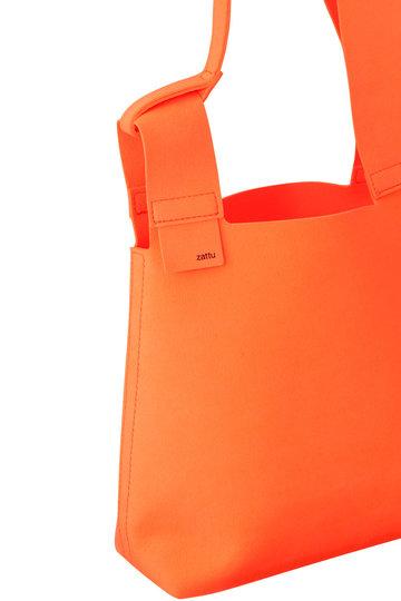 イザリシー/ithelicyの【zattu】CONCH マイクロファイバースエードハンドバッグ(ネオンオレンジ/ZU-555-0001)