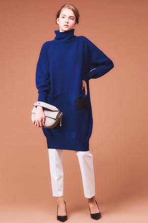 【予約販売】オフタートルワンピース ランバン オン ブルー/LANVIN en Bleu