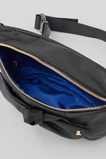 ランバン オン ブルー/LANVIN en Bleuのタフタリボンウエストポーチ(ブラック/3806001)