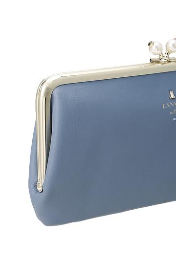 ランバン オン ブルー/LANVIN en Bleuのシャペル 薄マチ長口金財布(ブラック/3899027)