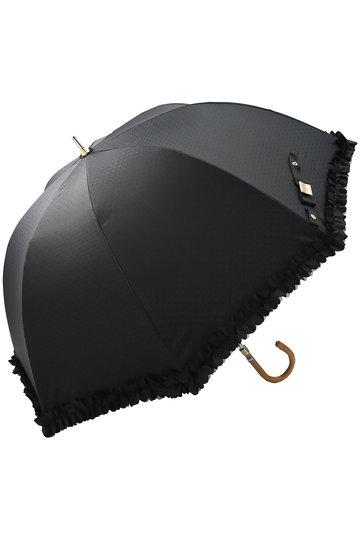 ランバン オン ブルー/LANVIN en Bleuのフリルデザイン長傘(晴雨兼用)(ブラック/3948013)