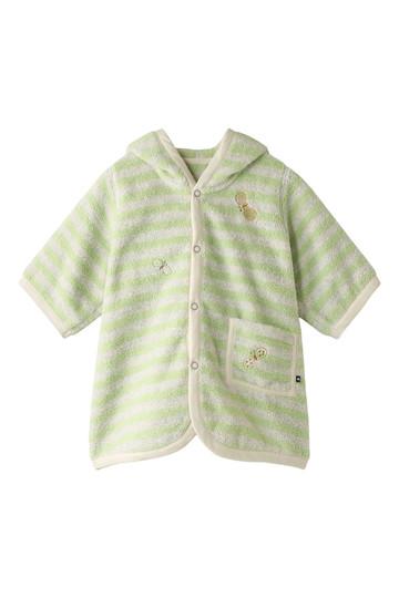 ミナ ペルホネン/mina perhonenの【Baby】choucho パイルパーカ(グリーンボーダー/BP8028P)