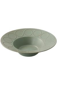 <ELLE SHOP> mina perhonen ミナ ペルホネン tambourine 深皿 23cm グリーン画像