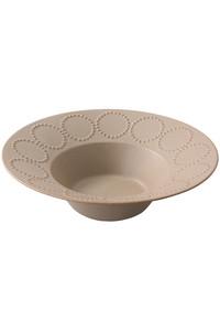 <ELLE SHOP> mina perhonen ミナ ペルホネン tambourine 深皿 23cm ライトブラウン画像