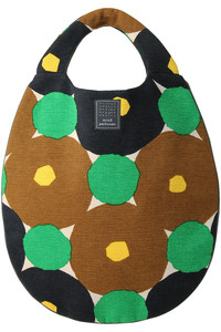 <ELLE SHOP>forest ring egg bag グリーン画像