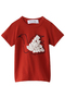 【Baby】swan petit Tシャツ ミナ ペルホネン/mina perhonen レッド