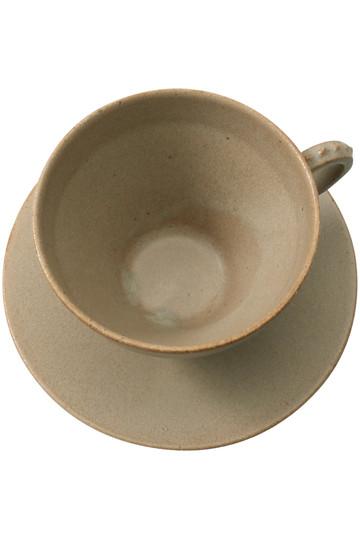 ミナ ペルホネン/mina perhonenのtambourine カップ&ソーサー(ライトブラウン/TW0014)