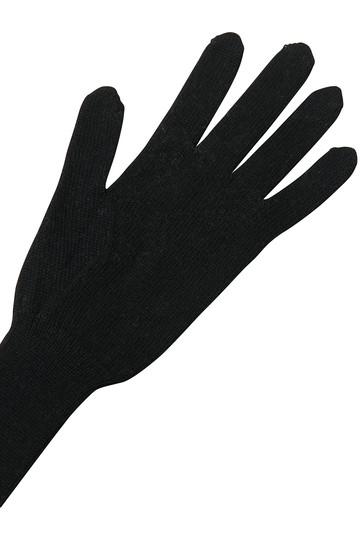 ミナ ペルホネン/mina perhonenのpeau d'hiverグローブ(ブラック/WA7808)