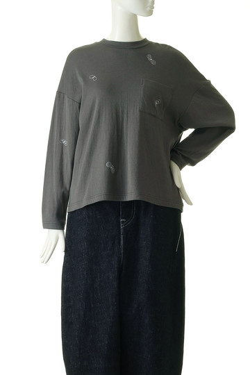 ミナ ペルホネン/mina perhonenのchouchoTシャツ(グレー/WA8254)