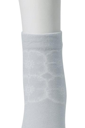 ミナ ペルホネン/mina perhonenの【予約販売】anemone ソックス(ライトグレー/XS7874)