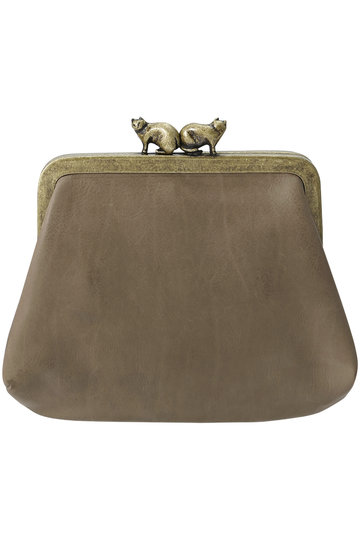 ミナ ペルホネン/mina perhonenの【予約販売】cuddle purse 財布(グレーベージュ/XS7890)