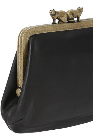 ミナ ペルホネン/mina perhonenの【予約販売】cuddle purse 財布(ブラック/XS7890)