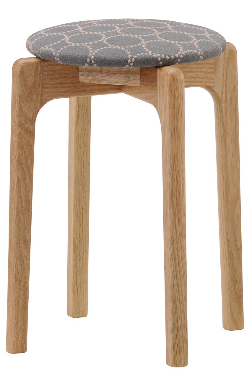 ミナ ペルホネン/mina perhonenの【受注生産】MARUNI60 スタッキングスツール oak frame(グレー×ブルー/2008-05-oak)