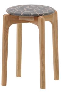 <ELLE SHOP>【受注生産】MARUNI60 スタッキングスツール oak frame グレー×ブルー画像