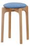 【受注生産】MARUNI60 スタッキングスツール oak frame ミナ ペルホネン/mina perhonen ブルー×ライム