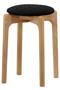 【受注生産】MARUNI60 スタッキングスツール oak frame ミナ ペルホネン/mina perhonen ブラック×ホワイト