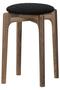 【受注生産】MARUNI60 スタッキングスツール walnut frameキノママ ミナ ペルホネン/mina perhonen ブラック×ホワイト