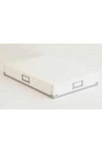 <ELLE SHOP>【SEMPRE】A4書類ケース横型 ホワイト