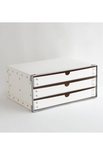 センプレ/SEMPREの【SEMPRE】3段ボックス横型(ホワイト/222064)