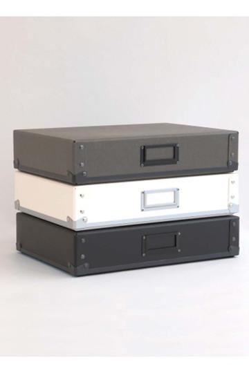センプレ/SEMPREの【SEMPRE】3段ボックス横型(Dグレー/222064)