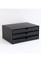 【SEMPRE】3段ボックス横型 センプレ/SEMPRE ブラック