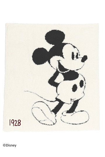 BAREFOOT DREAMS ベアフットドリームズ D105 Classic Mickey Mouse Baby Blanket cream