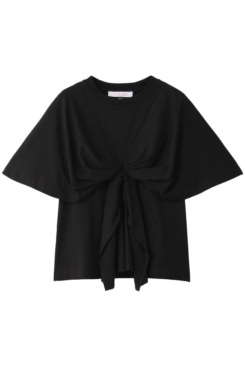 シー バイ クロエ/See By ChloeのジャージードレープTシャツ(ブラック/20SJH17098)