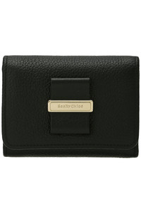 <ELLE SHOP>ROSITA 3つ折り財布 ブラック画像