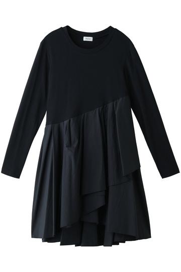 REKISAMI レキサミ 裾フレアロングスリーブTシャツ ネイビー
