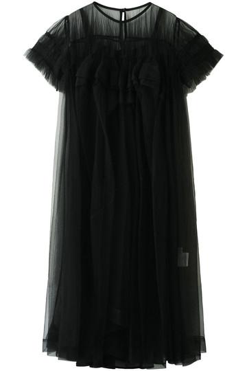 REKISAMI レキサミ 【Chika Kisada】チュールハーフスリーブドレス ブラック