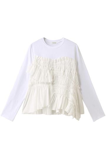 REKISAMI レキサミ 【Chika Kisada】ギャザーデザイン長袖Tシャツ ホワイト
