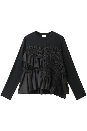 REKISAMI レキサミ 【Chika Kisada】ギャザーデザイン長袖Tシャツ ブラック