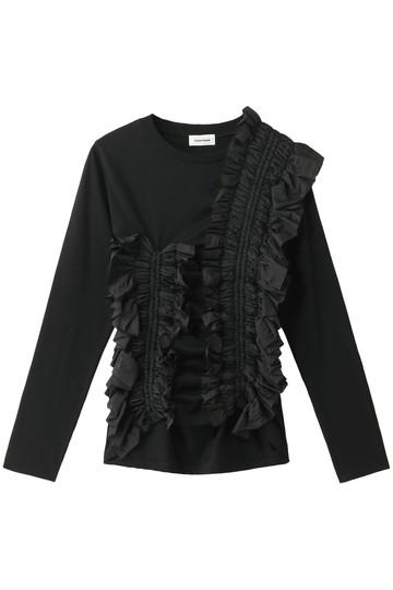 REKISAMI レキサミ 【Chika Kisada】ギャザーxフリル長袖Tシャツ ブラック